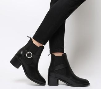 Ten Points Josette Chelsea Buckle Boots Black Leather