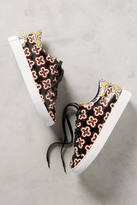Lola Cruz Floral Leather Sneakers