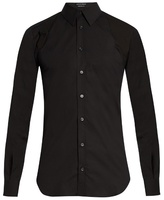 Alexander Mcqueen Harness Long-sleeved Stretch-cotton Shirt