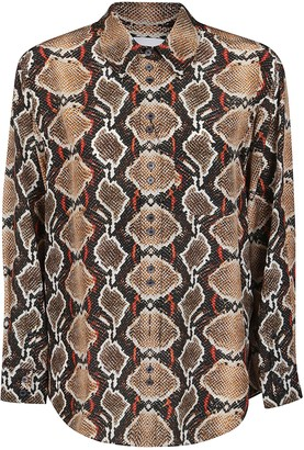 Burberry Snakeskin Print Effect Shirt