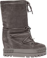 Casadei 80mm Suede Wedged Sneaker Boots