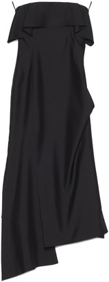 Lanvin Asymmetric Bustier Dress