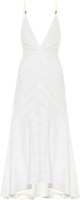 Galvan Riviera cotton midi dress