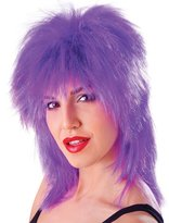 Bristol Novelty Tinsel Tina Wig. Purple Accessory Fancy Dress