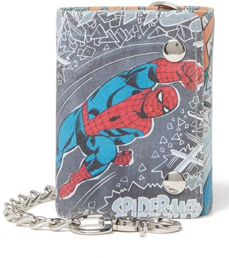 Marvel Spider-Man Leather Chain Trifold Wallet