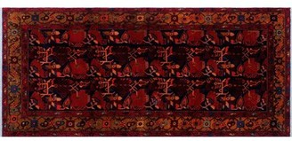 "Bloomsbury Market One-of-a-Kind Sadik Handmade Kilim 4'5"" x 9'8"" Wool Black/Brown/Gray Area Rug"
