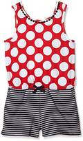Pumpkin Patch Girl's Stripe Shortie Playsuit Polka Dot Overalls