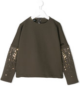 Diesel top with embellished sleeves