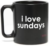 Peace Love World I Love Sundays Black Mug