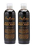 Shea Moisture SheaMoisture African Black Soap Body Wash, 13 Ounces - 2pc