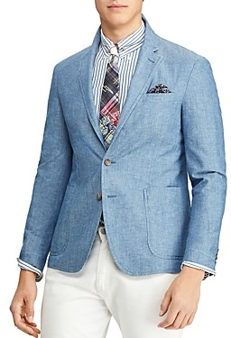 Polo Ralph Lauren Chambray Slim Fit Suit Jacket