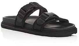 Bottega Veneta Men's Leather & Canvas Strap Slide Sandals