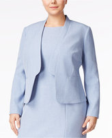 Nine West Plus Size Band-Lapel Blazer