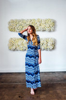 Shabby Apple Marisol Wrap Maxi Dress Blue