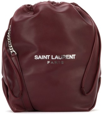 Saint Laurent Teddy Drawstring Bucket Bag