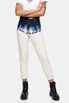 Topshop Indigo Dip Dye Mom Jeans