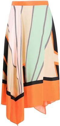 Dvf Diane Von Furstenberg Asymmetric Hem Skirt