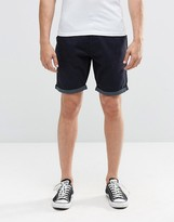 Brave Soul Chino Contrast Spot Turn Up Shorts