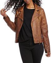 Indigo Saints Faux-Leather Moto Jacket