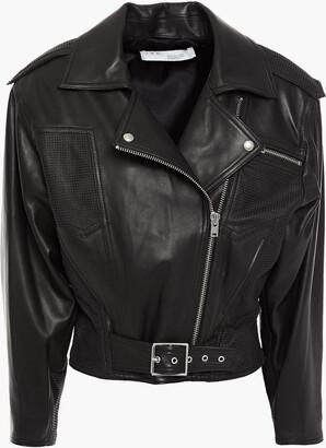 IRO Osorn Laser-cut Leather Biker Jacket