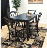 Carolina Cottage Prairie 48 in. W Antique Black Rectangular Dining Table