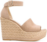 Stuart Weitzman wedge sandals - women - Leather/Suede/rubber - 37