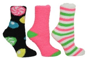 Betsey Johnson Candy Cozy Sock Giftbox, 3-Pack