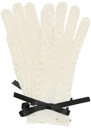 Gucci Lace cotton gloves