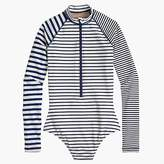 J.Crew Long-sleeve one-piece in mixed stripe
