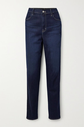 J Brand Mia High-rise Tapered Jeans - Dark denim