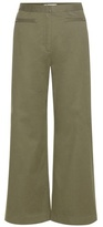 Alexander Wang High-waisted Cotton-blend Trousers