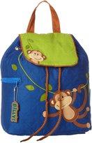 Stephen Joseph Little Boys' Quilted Backpack