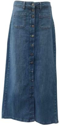 Liu Jo Liu.jo Blue Cotton - elasthane Skirt for Women
