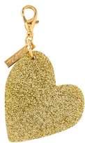Edie Parker Glitter Heart Keychain