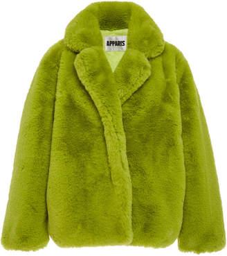 Apparis Manon Faux-Fur Coat Size: M