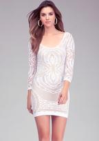 Bebe Crochet Lace Bodycon Dress