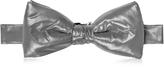 Forzieri Dark Gray Nylon Puffer Bow Tie