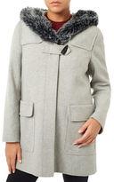 Windsmoor Faux Fur Trimmed Duffle Coat