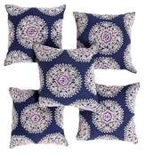 John Robshaw Set of 6 Pasak Throw Pillows
