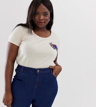 Junarose birdie t-shirt-Cream