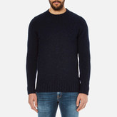 Barbour Heritage Netherby Crew Neck Knitted Jumper Navy