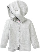 Joe Fresh Bear Hooded Cardigan (Baby Girls 0-12M)