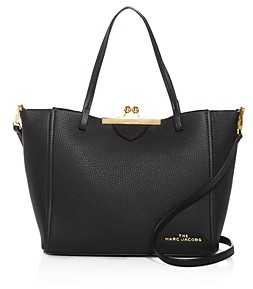Marc Jacobs The Kiss Lock Mini Leather Tote