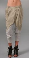 Asymmetrical Khaki Pants