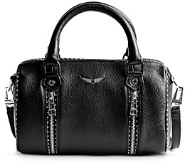 Zadig & Voltaire Sunny Small Studded Leather Bowling Bag