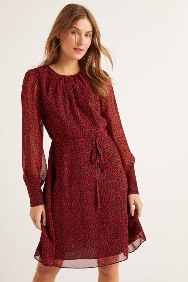 Boden Womens Red Blossom Dress - Red