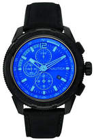 Nautica Indigo Chronograph Leather Strap Watch