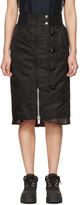 Sacai Black Nylon MA-1 Skirt