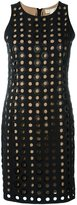 MICHAEL Michael Kors perforated fitted dress