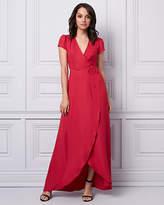 Le Château Chiffon Wrap-Like Gown